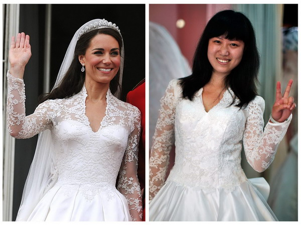 Copycat royal wedding gown a hit