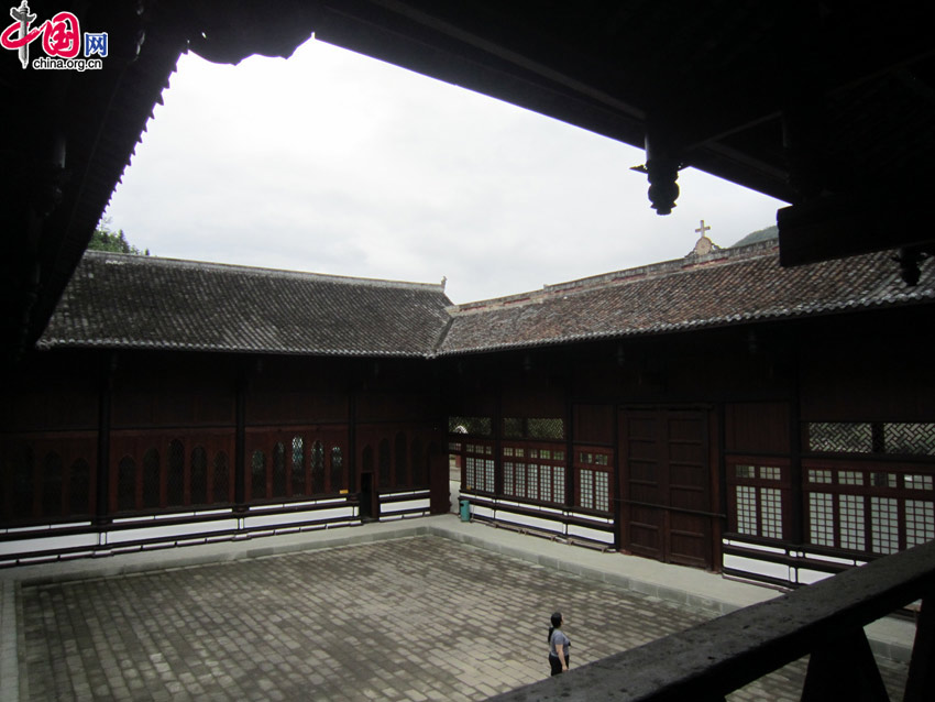 The courtyard of Dengchigou Church, which was built in traditional Chinese style to respect local culture. [Wang Qian/China.org.cn]