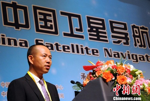Ran Chengqi, director of China Satellite Navigation System management office, speaks at the second China satellite navigation academic annual meeting in Shanghai on May 18, 2011.