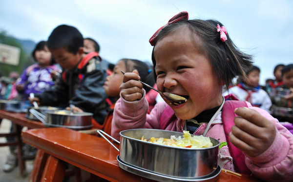 Free lunch, a boon for rural kids