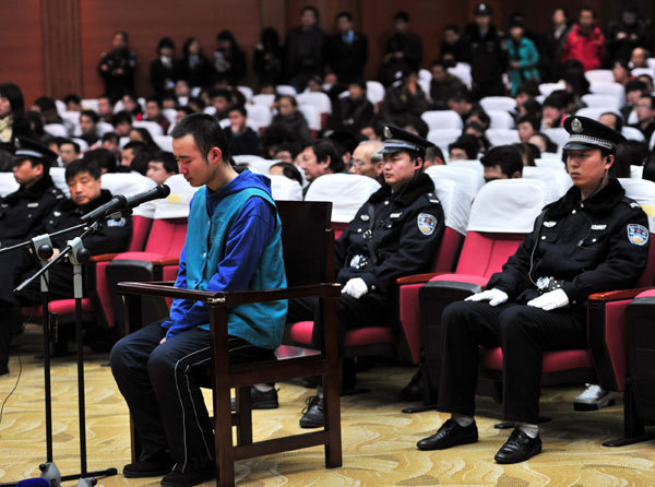 Yao Jiaxin appears at the Xi'an Intermediate People's Court for a hearing on March 23. [Photo/Asianewsphoto]