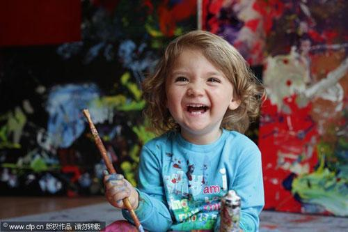 4-year-old artist New York debut - China org cn