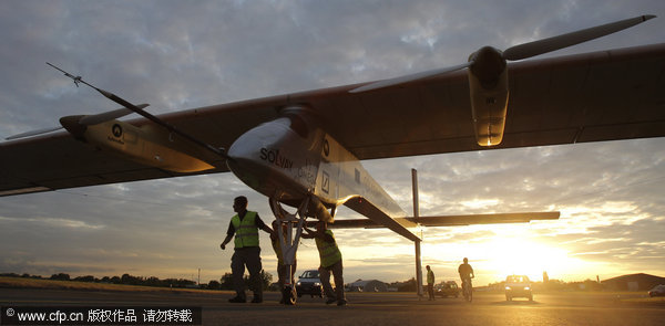 Solar-powered plane ends cross-border flight in Paris