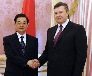 China, Ukraine set up strategic partnership