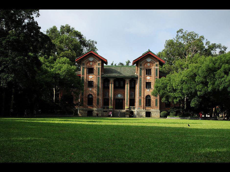 Photo shows the beautiful scenery of Sun Yat-sen University in ...