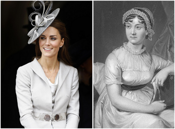 Kate Middleton related to author Jane Austen