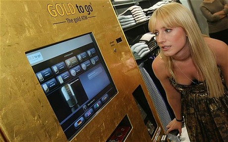 UK unveils first ATM for gold at Westfield Shopping Centre