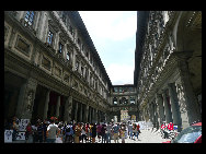 The Uffizi Gallery is a museum in Florence, Italy. It is one of the oldest and most famous art museums of the Western world. The paintings from artists such as Leonardo da Vinci, Michelangelo and Sandro Botticelli gathered at the Museum. [Zhangfang/China.org.cn]