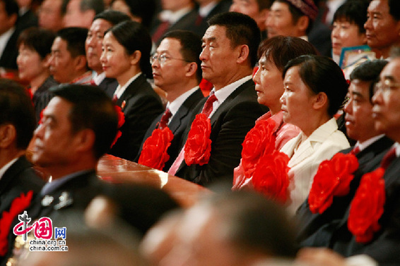 The Communist Party of China (CPC) holds a grand gathering on July 1, 2011 at the Great Hall of the People in Beijing to celebrate the Party's 90th anniversary.