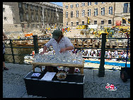 A performer in Museum Island. [Zhang Fang/China.org.cn]
