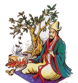 The popular legend says tea was discovered by Emperor Shennong in ancient China.