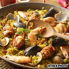 Seafood paella, one of the top 50 world's most delicious foods by China.org.cn.