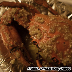 Butter garlic crab, one of the top 50 world's most delicious foods by China.org.cn.