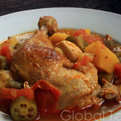 Chicken muamba, one of the top 50 world's most delicious foods by China.org.cn.