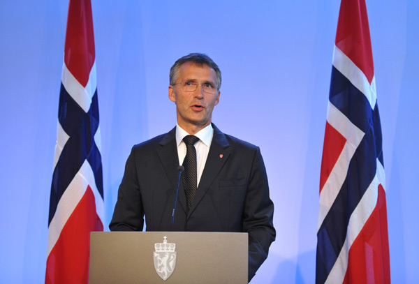Norwegian Prime Minister Jens Stoltenberg speaks during a press conference at the prime minister's residence in Oslo, capital of Norway, July 27, 2011. Stoltenberg said Wednesday an independent commission would be set up to review Friday's deadly twin attacks that killed 76 people. [Xinhua]