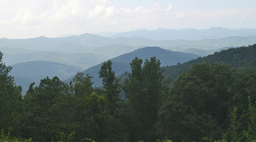 Blue Ridge Parkway mountain overlooks, North Carolina