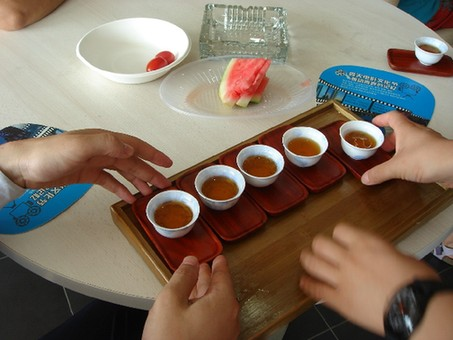 Traditionally, a visitor to a Chinese home is expected to sit down and drink hot tea while talking.