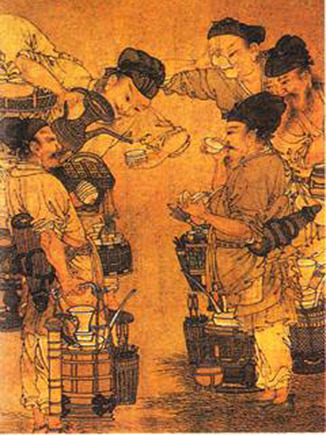 Whipped powdered tea became fashionable during the Song Dynasty (960-1279).