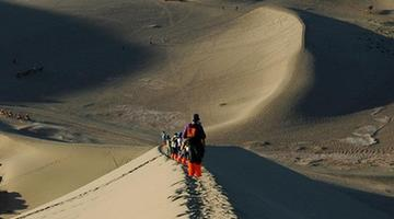 Singing-Sand Dunes in Dunhuang