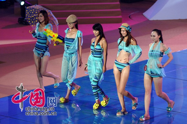 The first China (Xingcheng, Huludao) International Swimsuit Festival came to a close Wednesday evening after a swimsuit design contest in Huludao, Liaoning Province.