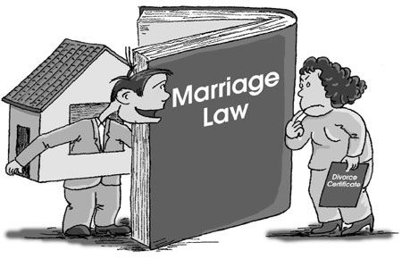 China's divorce property rules changes on Saturday.