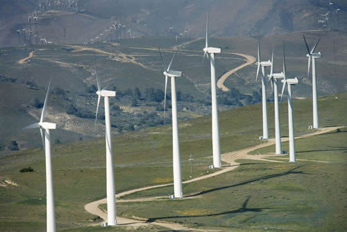 The Inner Mongolia province has installed wind power stations that reached 3 million kilowatts in capacity by the end of 2008. [File photo]