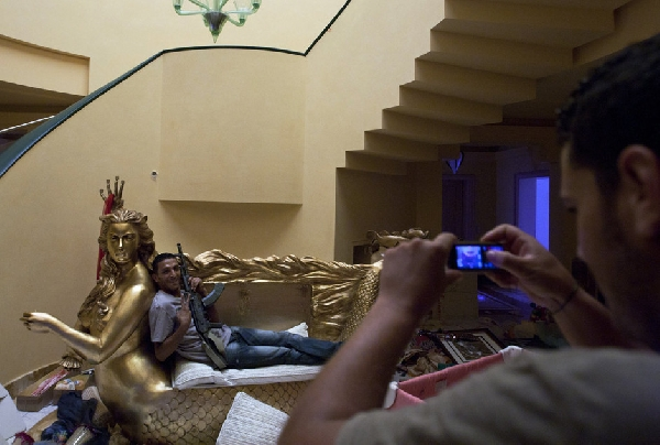 luxurious mansion of Libyan leader Muammar Gaddafi. [Xinhua]