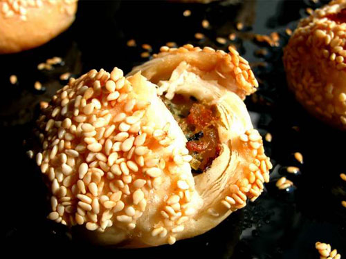 Crab shell cake, one of the 'top 10 most famous Shanghai snacks' by China.org.cn.