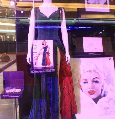 Some of actress Marilyn Monroe's items are on display at the New World Department Store in Beijing Sept. 8, 2011.
