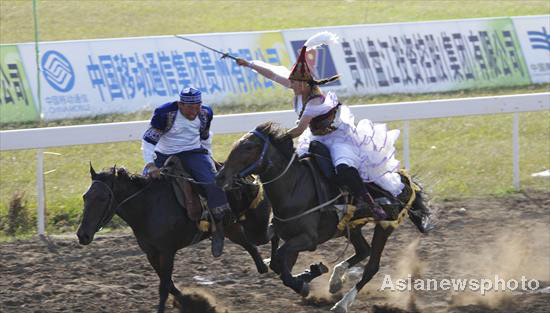 'Girl chasing' turns to culture show at Ethnic Games