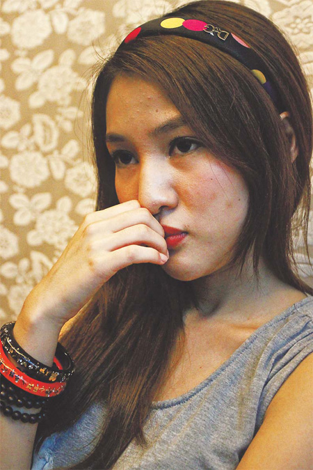 Twenty-year-old Guo Meimei, who sparked a national scandal about the Red Cross Society of China, sat for an interview with China Daily in a teahouse in Chaoyang district of Beijing on Sept 14.