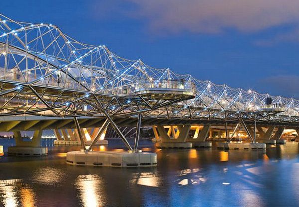 The Singapore Helix Bridge, one of the 'top 11 world's most incredible bridges' by Forbes.