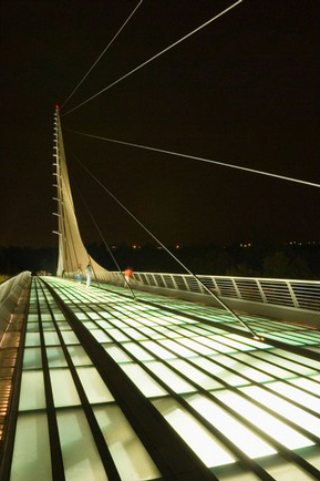 Sundial Bridge, one of the 'top 11 world's most incredible bridges' by Forbes.