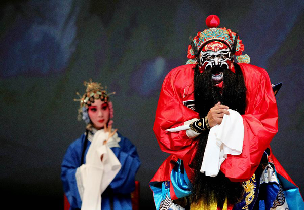 in the Beijing Opera 'Zhong Kui Marries off His sister' at the Lincoln Center in New York, the United States, Sept. 17, 2011.