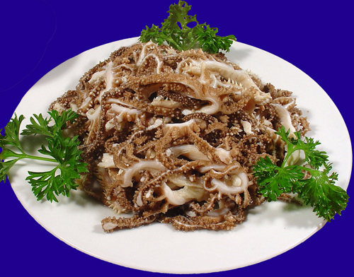 Fried beef tripe, one of the 'top 10 famous Beijing snacks' by China.org.cn.