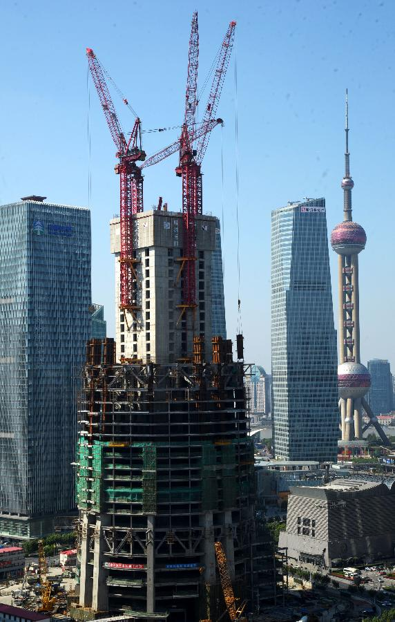 China S Tallest Building Shanghai Tower To Exceed 200m