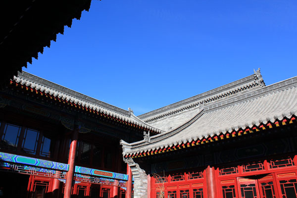 A replica of Da Sheng Kui, the business shop started by tea merchants from Shanxi province, is being constructed to tell the story of the once prosperous tea trade. [Photo: CRIENGLSIH.com]