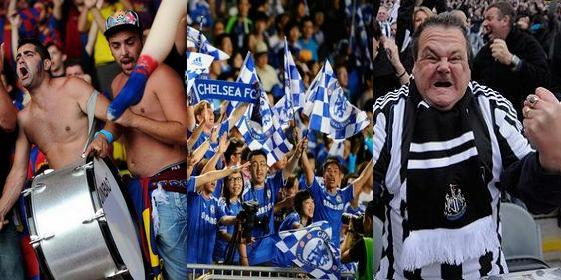 Top 13 most popular football clubs