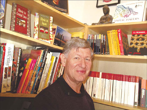 Michael Sheringham at his family's Arthur Probsthain bookstore.