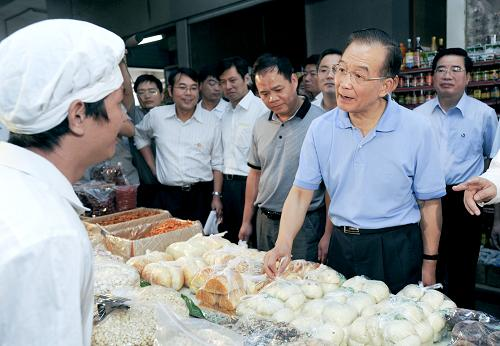Chinese Premier Wen Jiabao made an inspection tour in Nanjing
