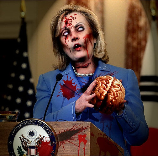 And Hillary Clinton could be his scary Secretary! 希拉里•克林顿担任可怕的国务卿!
