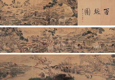 One Hundred Horses, one of the 'top 10 most famous Chinese paintings' by China.org.cn.