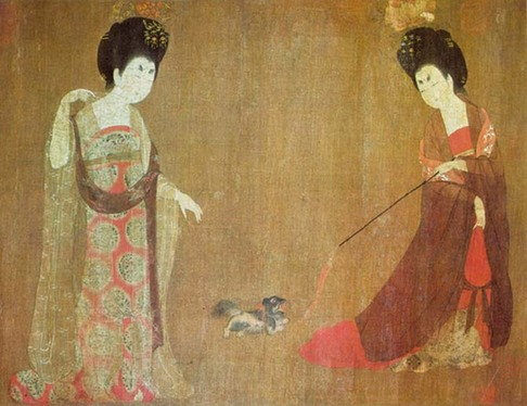 Tang dynasty court painting