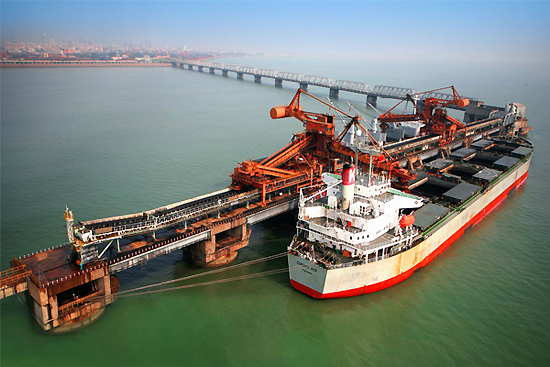 Rizhao Port, one of the 'top 10 ports in China' by China.org.cn.