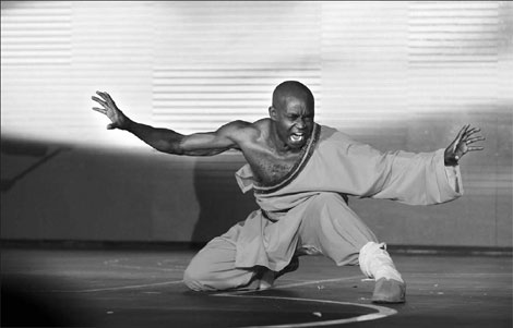 Dominique Saatenang, who studied at Shaolin Temple, aims to spread kungfu culture.