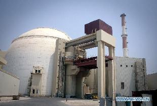 Photo taken on Aug. 21, 2010 shows a view of the Bushehr nuclear power plant in southern Iran. Iranian Foreign Minister Ali-Akbar Salehi confirmed Saturday that fuel is being reloaded in the Bushehr nuclear plant, saying the reactor of the plant will reach the critical phase between May 5 and May 10. [Ahmad Halabisaz/Xinhua]
