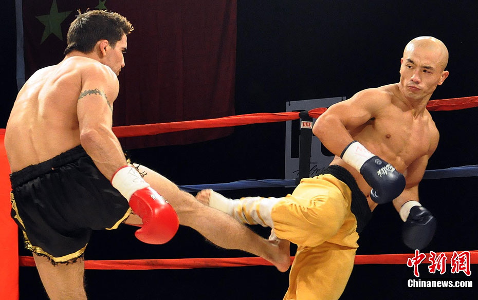 Chinese Kungfu master KOs American fighter - China org cn