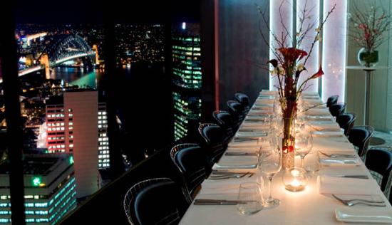 Summit Restaurant Sydney Menu