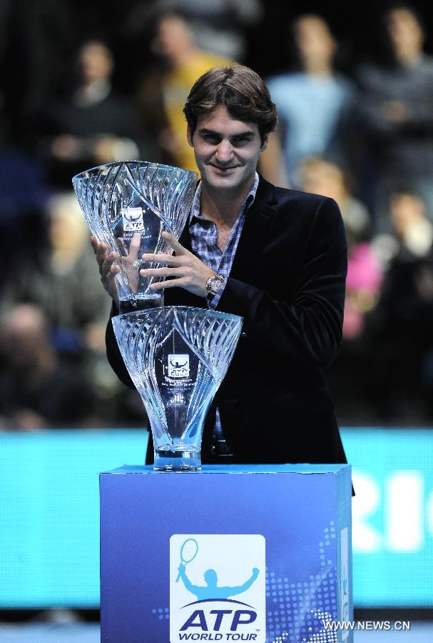 BRITAIN-LONDON-TENNIS-ATP-AWARDS-FEDERER