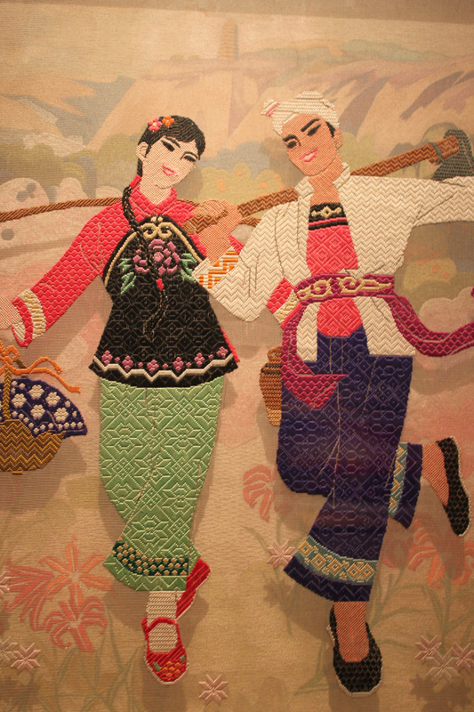Chinese embroidery art exhibition in beijing china